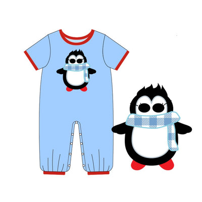 Infant Boy's Winter Penguin Romper