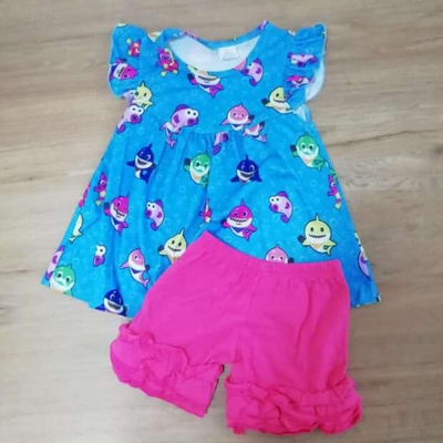 Girl's  Baby Shark Short Set
