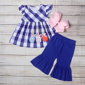 Girl's Blue Balloon 2PC Capri Set
