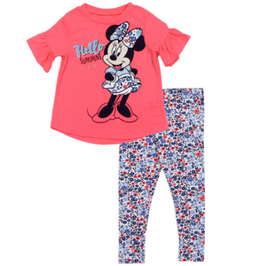 Toddler Girl's Minnie Mouse 2PC Set