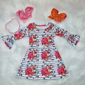 Girl's Pumpkin Twirl Dress