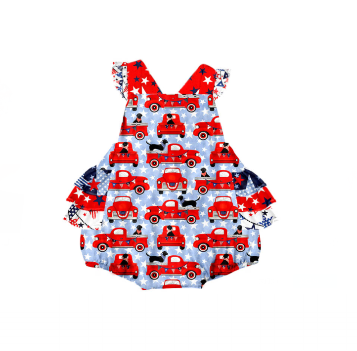 Infant Girl's Patriotic Bubble Romper