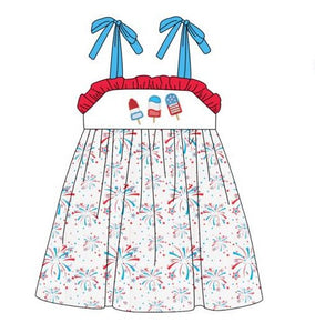 Girl's Patriotic Popsicles Tank Twirl Dress