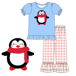 Girl's Baby Winter Penguin 2PC Tunic Set