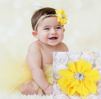 Girl's Infant/Toddler Headband Tutu Set- Yellow