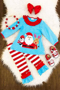 Santa & Friends 2PC Set