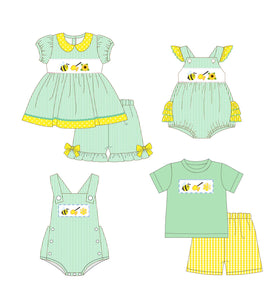 Girl's Bumble Bee & Honey 2PC Short Set