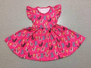 Girl's Llama Twirl Dress