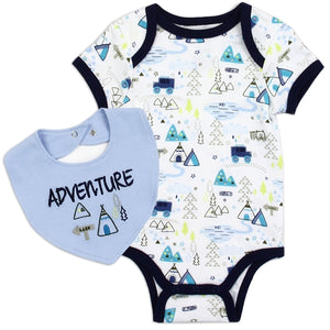 "Infant Boy's Lil' ""Adventure"" 2PC Romper Set"