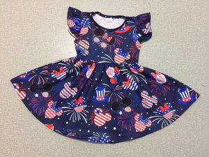 Girl's Patriotic Mickey Mouse Twirl Dress