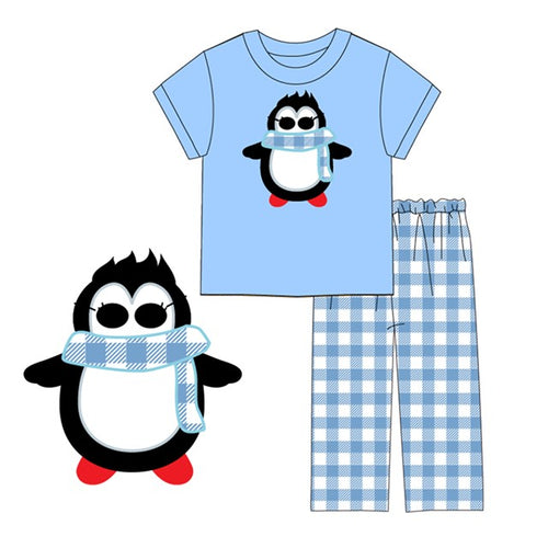 Boy's Winter Penguin 2PC Pants Set