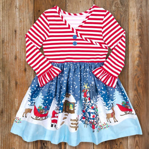 Santa's Sleigh Christmas Dress