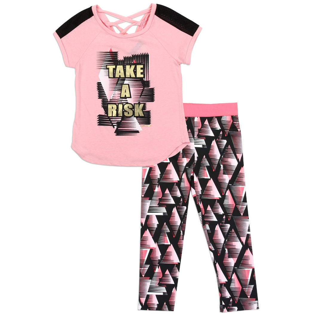 Girls Active Capri Legging Set