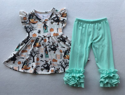 Girl's Trick or Treat 2PC Tunic Set