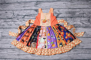 Girl's Halloween Unicorn Twirl Dress