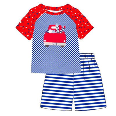 Boy's Patriotic 2PC Short Set