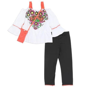"Girls ""Amanda""  2PC Legging Set w/ Purse"