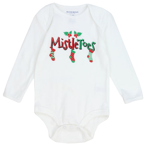 Infants Holiday Romper - Mistle Toes