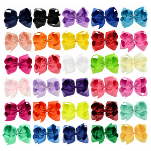 Girl's Large 6 Inch Boutique Hair Bows