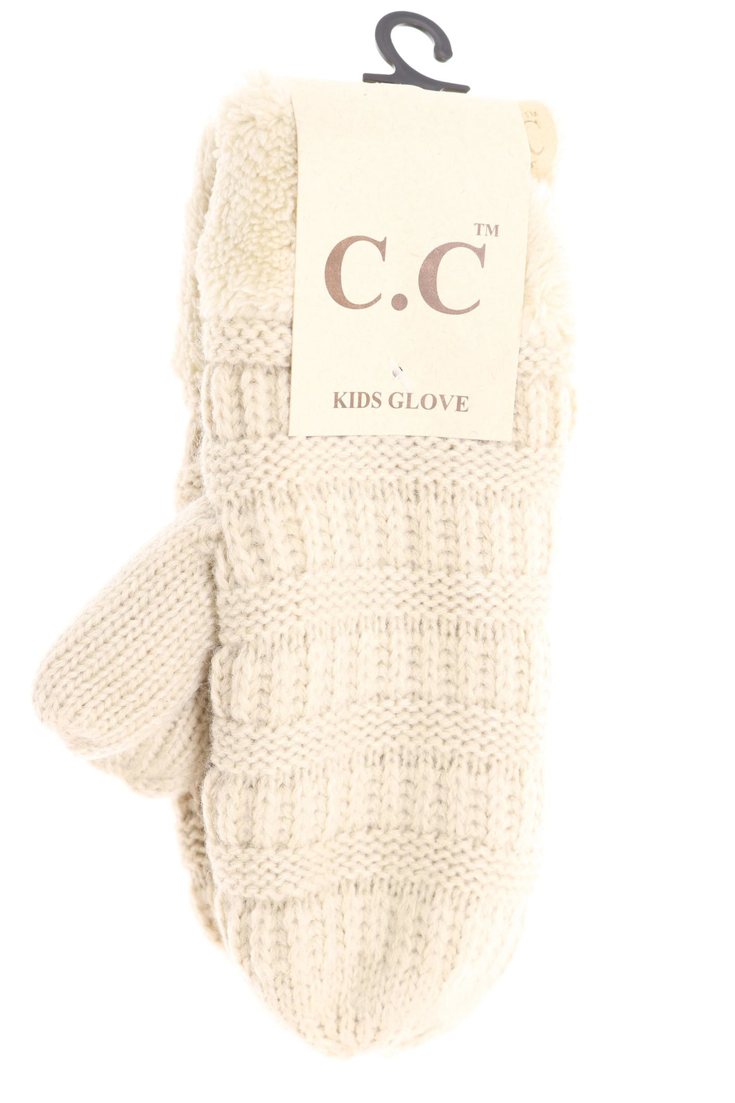Kids Solid Fuzzy Lined Mittens
