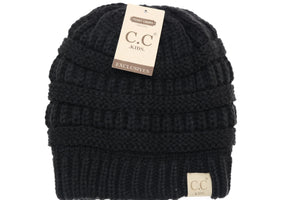 Kids Solid Fuzzy Lined  CC Beanie