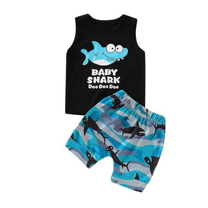 Boy's 2PC Baby Shark Short Set
