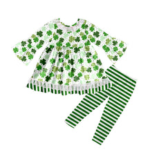 Girl's Shamrocks & Stripes 2PC Legging Set