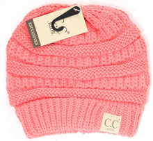 Kids Solid Classic CC Beanie Tail (Coral)
