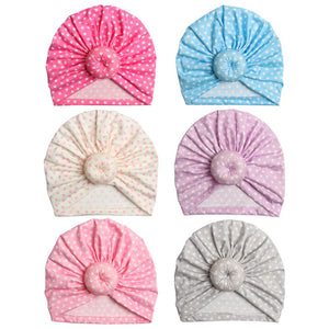 Pastel & Polka Dots Infant & Toddler's Turban Headwraps