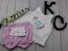Girl's Koala Baby 2PC Romper: Daddy's Beauty (Light Purple)
