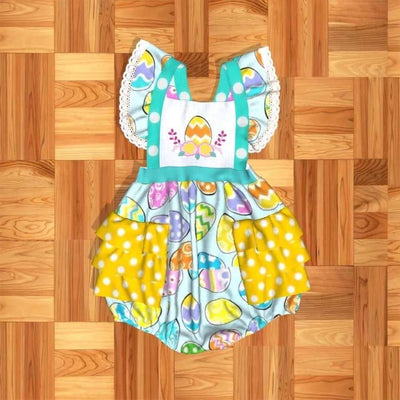 Girl's Infant Easter Egg Romper