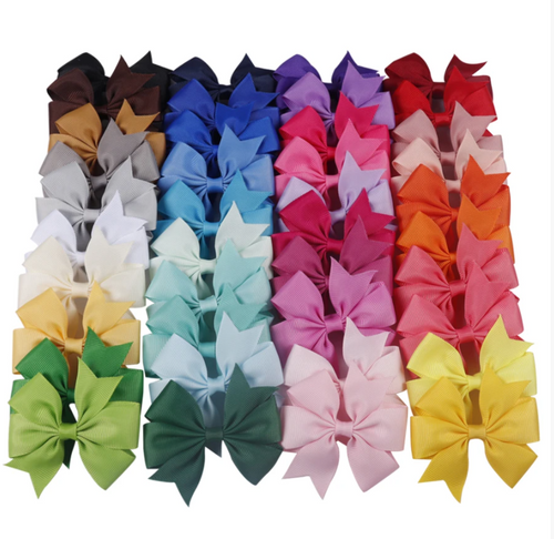 Girl's 3 inch Fashion Bows (Pair)