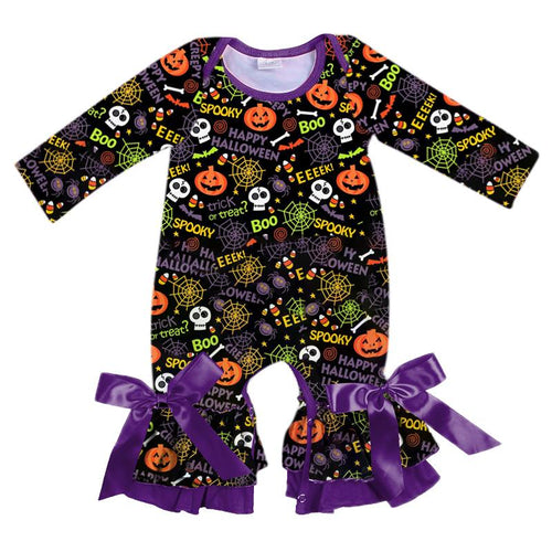 Infant's Halloween Romper - Boo! Eek! Trick or Treat?