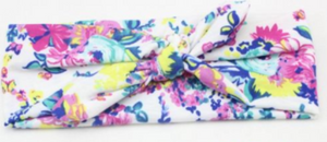 Girl's Knotted Headband- Blue Floral