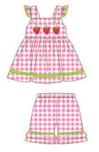 Girl's Strawberry Patch 2PC Short Set
