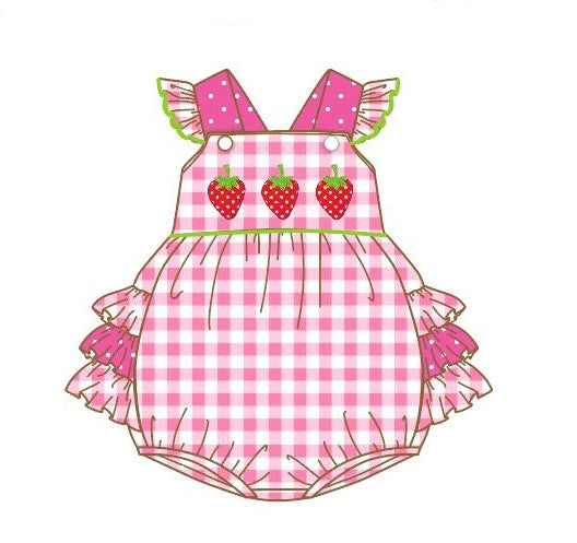 Infant Girl's Strawberry Patch Romper