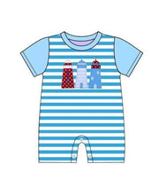 Infant Boy's Blue Lighthouse Romper