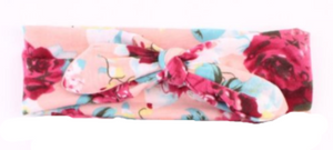 Girl's Pink & Floral Knotted Headband