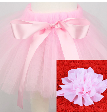 Girl's Infant/Toddler Headband Tutu Set- Pink