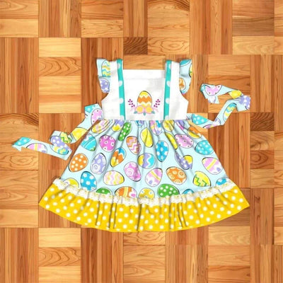 Girl's Easter Egg Twirl Dress
