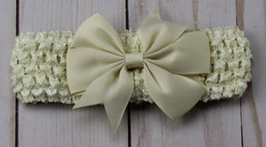 Girl's - Knitted Headband - Beige