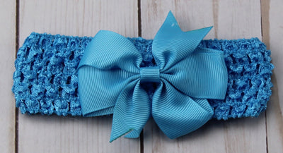 Girl's - Knitted Headband - Blue
