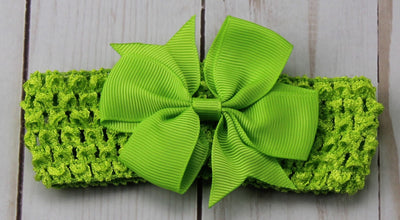 Girl's - Knitted Headband - Green
