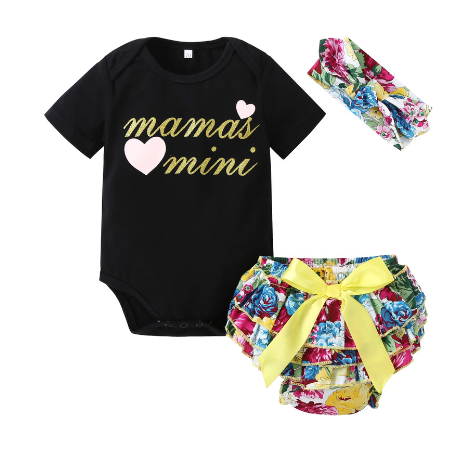 Infant Girl's  3PC Bloomer - Bummie  Set