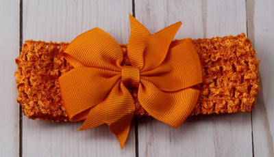 Girl's - Knitted Headband - Orange