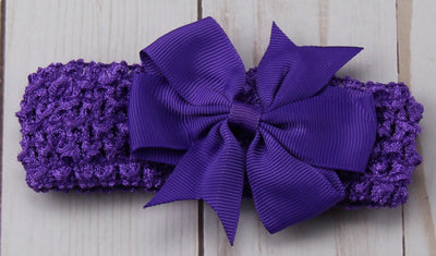 Girl's - Knitted Headband -Purple