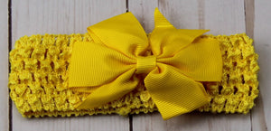 Girl's - Knitted Headband - Yellow