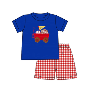 "Boy's ""Take Me Out to the Ballgame"" Baseball 2PC Short Set"