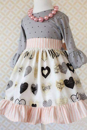 Girl's Vintage Heart Dress