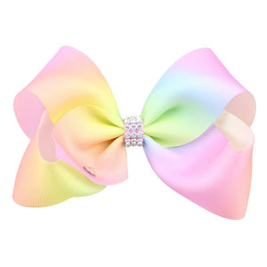 Girl's Designer Bow Multi-Pink Color